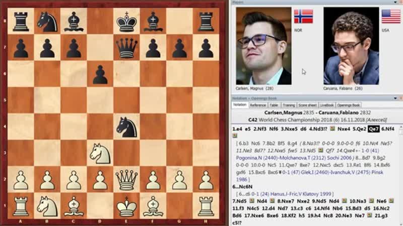 Магнус Карлсен - Фабиано Каруана (Лондон, 2018 год). 6-я партия матча