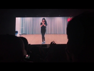 [Fancam] 180325 Luda Audition video from UZZU PARTY Fanmeeting   Luda