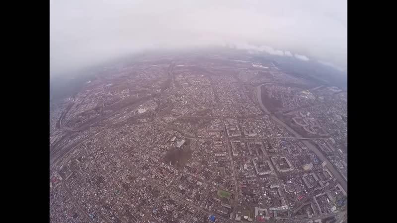 город Орёл и Семинарский парк с высоты 1000 метров