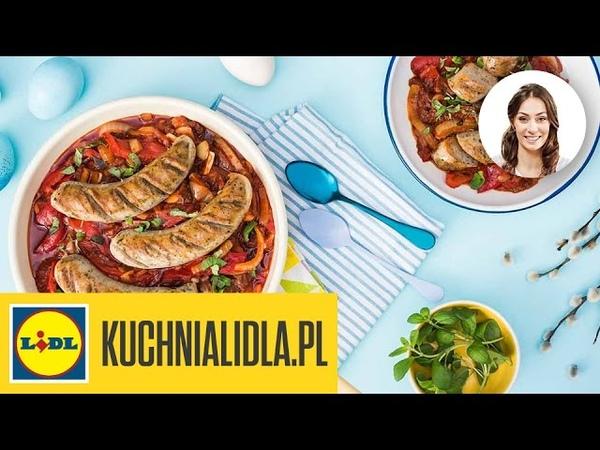Biała kiełbasa z suszonymi pomidorami Rodzina Mazurków przepisy Kuchni Lidla