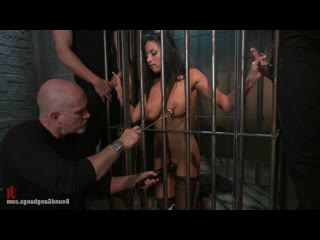 BG - Anissa Kate -  В клетке |KINK|HD 720|BGB|Bound Gang Bangs|СЕКС|БДСМ|BDSM|БОНДАЖ|GANGBANG 56
