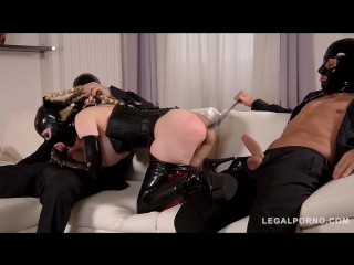 Cock Craving BDSM Pornstar Fucked By Two Dominators ◆ Latex Lucy ◆ Fetish ◆ Late