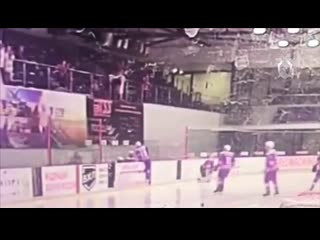 Видео падения ребенка на хоккейном матче (Инцидент Барнаул)
