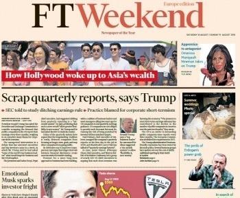 Financial Times Europe - 18 08 2018