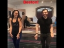 Karen Olivo Tam Mutu on first day of tech for the cast crew in Boston