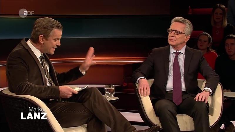 Markus Lanz vom 14. Februar 2019 mit Politiker Thomas de Maizière - ZDF Mediathek