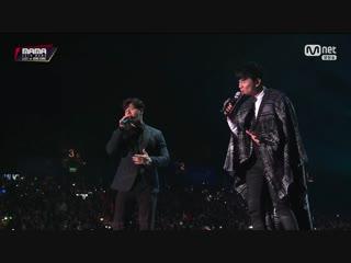 Jj lin & kim jong kook - hate that happiness came @ 2018 mama in hong kong 181215