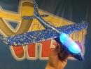 Свободнолетающий метательный самолет EPP с меняющейся диодной подсветкой