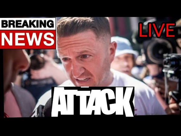 TOMMY ROBINSON BREAKING NEWS VIOLENCE ERUPTS ATTACKED BY MDL IN OLDHAM