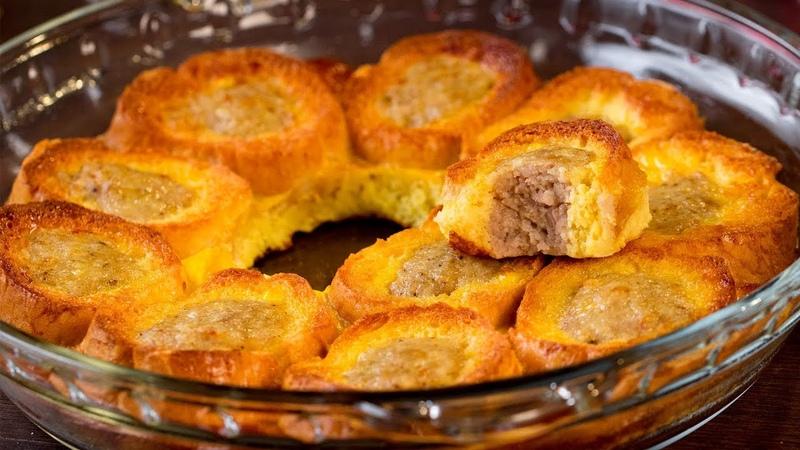 Быстрая закуска с мясным фаршем - необычный завтрак, который покорит всю семью! | Appetitno.TV