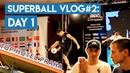 SUPERBALL 2019 / VLOG 2 DAY 1 / Отборочный этап, интервью с Олейником