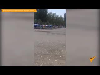 В Бишкеке авто въехало в людей на турнире по дрифту