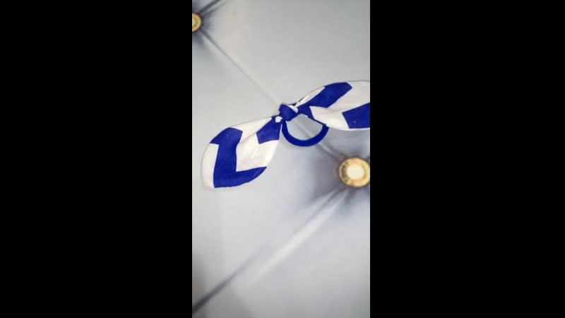 Резиночки в синий зиг заг