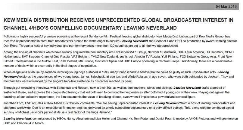 Как связаны Leaving Neverland и Kew Media Distribution (KMD)?, изображение №17