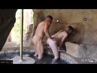 Johnny Castle, Mia Collins Young, Redhead, Premium, Hidden camera, Pool, Shaved, Riding dick, Freckles, Cumshot in