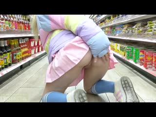 Lana Rain - Public Masturbation Flashing With Cum Lube Insertion