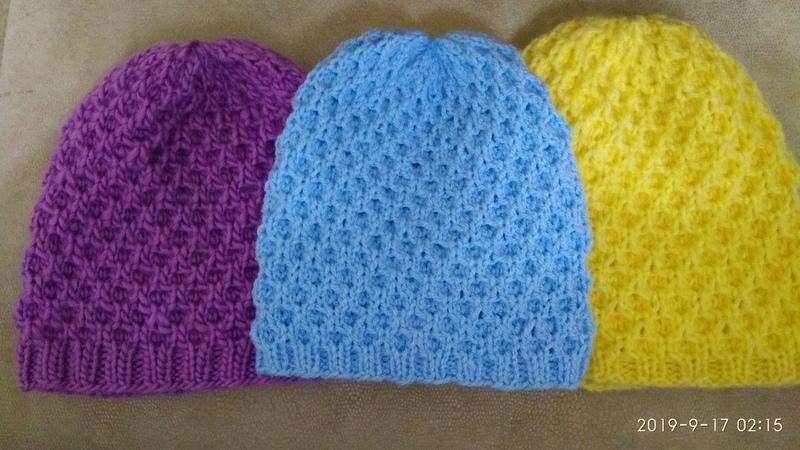 МК для новичков Вяжем бесшовную шапочку узором вафельки Набор петель резинка 2х2 полотно шапочки