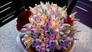 ТОРТ- КОРЗИНА с тюльпанами. Как сделать ручку у корзины \CAKE - BASKET with tulips
