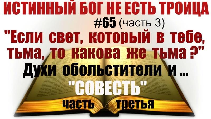 65 Если свет который в тебе тьма то какова же тьма Духи обольстители и СОВЕСТЬ часть3