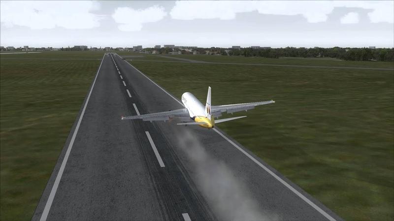 DELHI AIRPORT Emergency Landing Boeing 767-300ER FSX