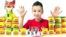 ЗВЕРОПОЛИС Игрушки Зоотопия герои мультфильма Challenge Play Doh Лепим из Play Doh ЗВЕРОПОЛИС