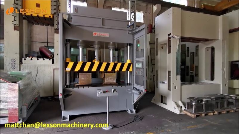 Custom Made Lexson-P01 PRO 4 Post 50 Ton Servo Hydraulic Press, High Speed 50 Ton Trim Press