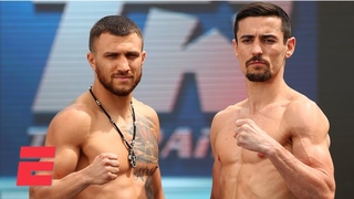 Vasiliy Lomachenko vs. Anthony Crolla weigh-in, interviews and analysis | Top Rank Boxing on ESPN
