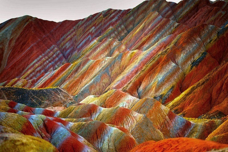 Китай: цветные горы Чжанъе-данься, изображение №3
