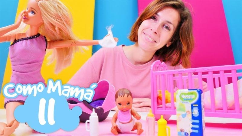 Barbie va de compras para el bebé Como mamá Vídeos de muñecas