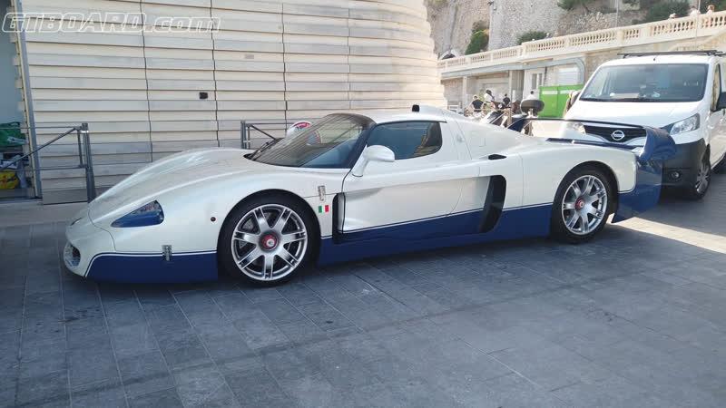 Maserati MC12 with smoking driver (AGAIN) in Monaco Yacht Club also Diablo Jota [4k 60p]