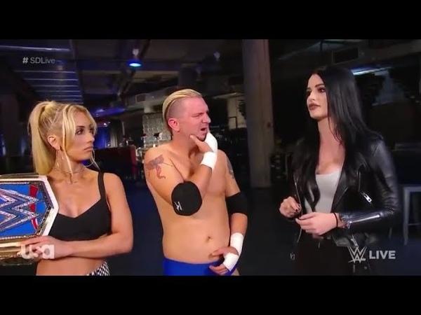 Carmella, James Ellsworth, Paige Backstage Segment SmackDown 07.03.2018