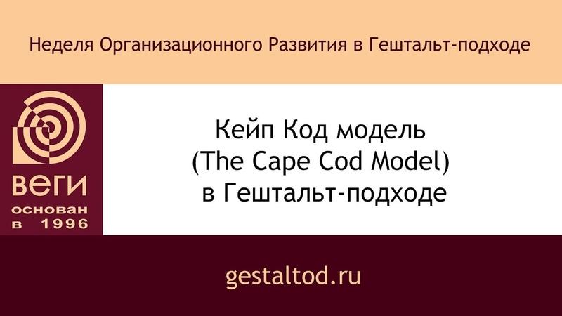 Кейп Код модель The Cape Cod Model в Гештальт подходе Константин Павлов