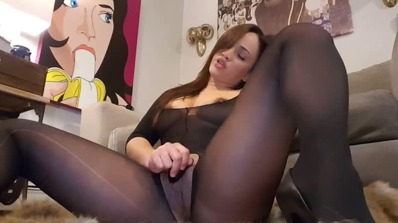 Серые колготки мастурбация