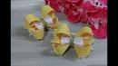 Красивые бантики из репсовых лент МК Канзаши Beautiful bow of REP ribbons
