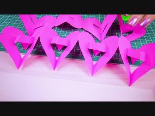 7 Легких поделок на 14 февраля своими руками. Как сделать Валентинки из бумаги. Поделки Самоделки.
