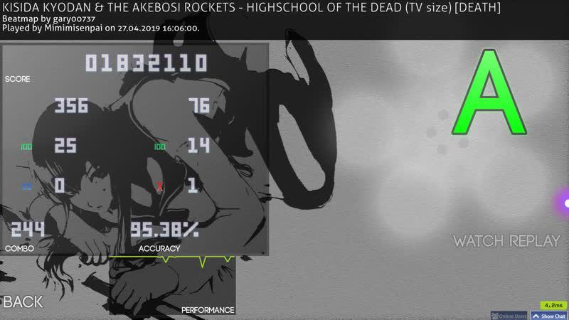 KISIDA KYODAN THE AKEBOSI ROCKETS HIGHSCHOOL OF THE DEAD tv size