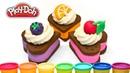 Видео для детей Плей До Торт Фрукты из пластилина Play Doh