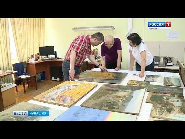 Реставраторы готовят картины из Чувашского художественного музея к экспозиции в Третьяковской галере