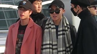 (HD) 161201  BTS  Incheon Airport departure to MAMA Hong Kong