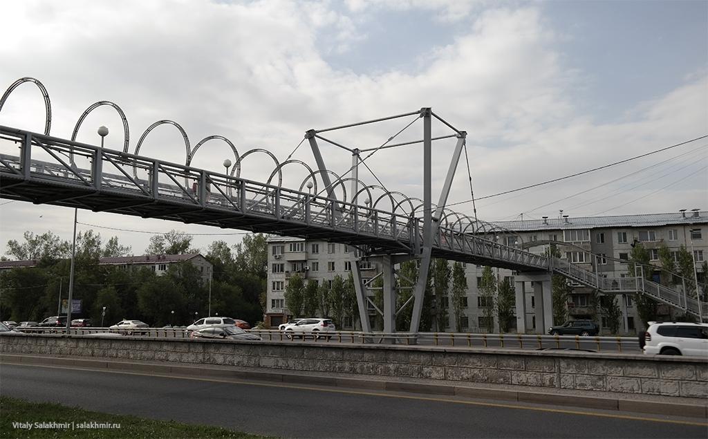 Пешеходный мост –Парк Первого Президента, проспект Аль-Фараби 2019