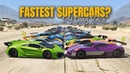 GTA V Online: Which is fastest Supercars | 1/4 DRAG RACE (TOP 10 FASTEST SUPERCARS)
