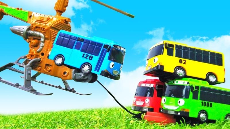 Tayo le bus et ses amis. L'hélicoptère. Vidéo en français pour enfants.