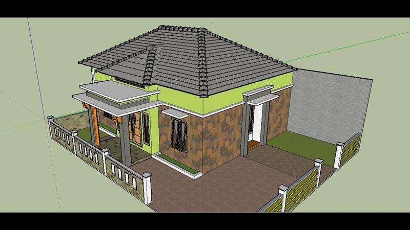 Contoh Inspirasi Desain Rumah Modern Batu Alam 1 Lantai Model Terbaru Yang Bagus