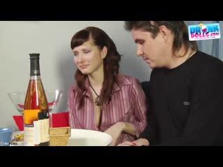 Русская студентка любит трахаться по пьяне ( порно секс юная молодая узкая щель пьяная)