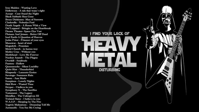 Iron Maiden , Metallica , Helloween , Black Sabbath - Heavy Metal Rock And Roll Songs