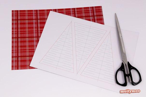 ЁЛКИ-ГИРЛЯНДЫ Очень простая в изготовлении гирлянда! Делать быстро и из обычной цветной бумаги, не требуется больше ничего, кроме ножниц. Ну и куска бечевки, конечно же. Просто распечатайте