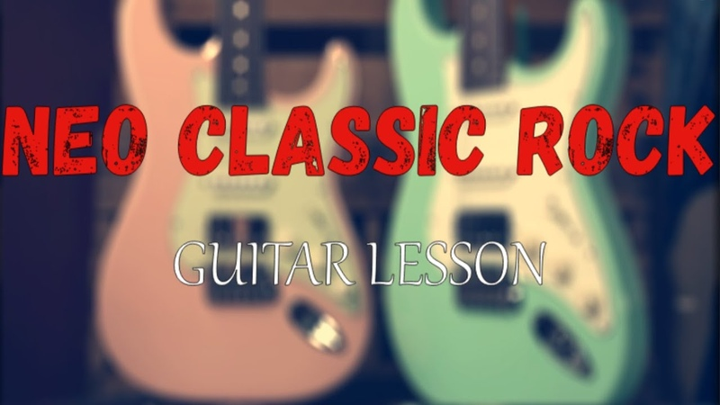 How to play on guitar fast passages in neo classic rock music, guitar tutorial, guitar lesson