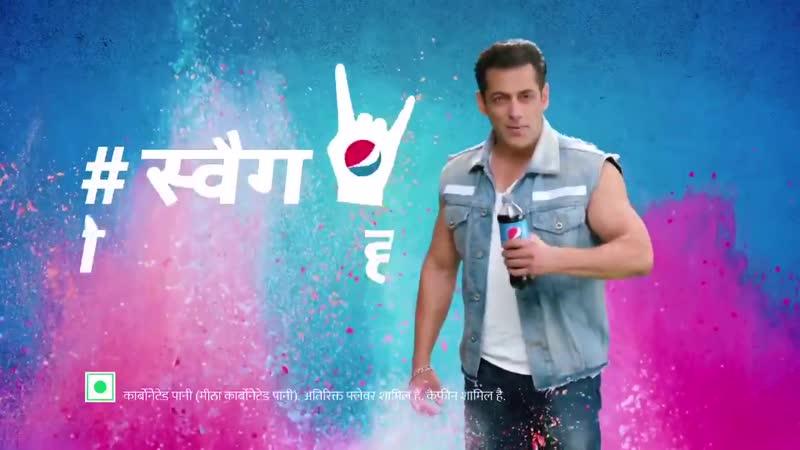 Rang Hain Doston Ki Toli Hain Aur Swag Wali Botel Kohli Hai Pepsi Yeh Swag Wali Holi Hain SalmanKhan Salman Khan Wishes