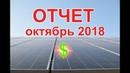 Солнечная Электростанция 17 кВт под Зеленый Тариф. Отчет за Октябрь 2018