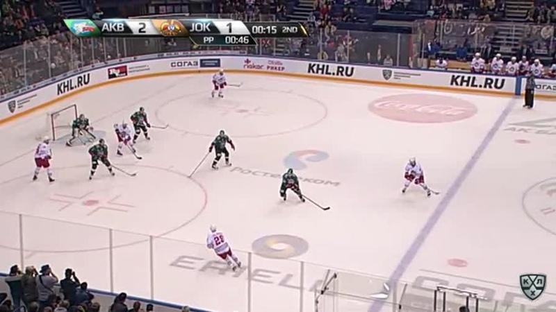 Моменты из матчей КХЛ сезона 17/18/19 • Удаление. Ессе Йоэнсуу (Йокерит) удалён на 2 минуты за атаку игрока, не владеющего шайб